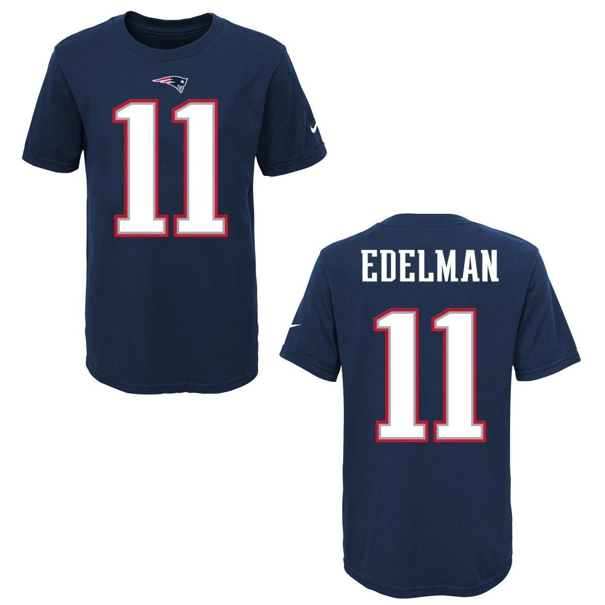 Get Quotations · New England Patriots Julian Edelman Blue Youth Nike Player  Pride Tee2 T-Shirt 27928039c