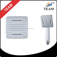 TM-8056 waterfall square bathroom shower head and hand shower set ABS material complete chromed