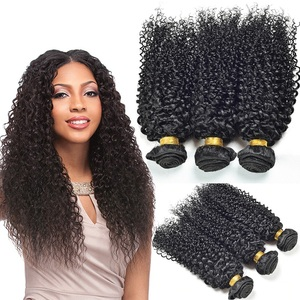 Wholesale 100 pecent human extension afro kinky curly 20 inch virgin remy brazilian hair weave