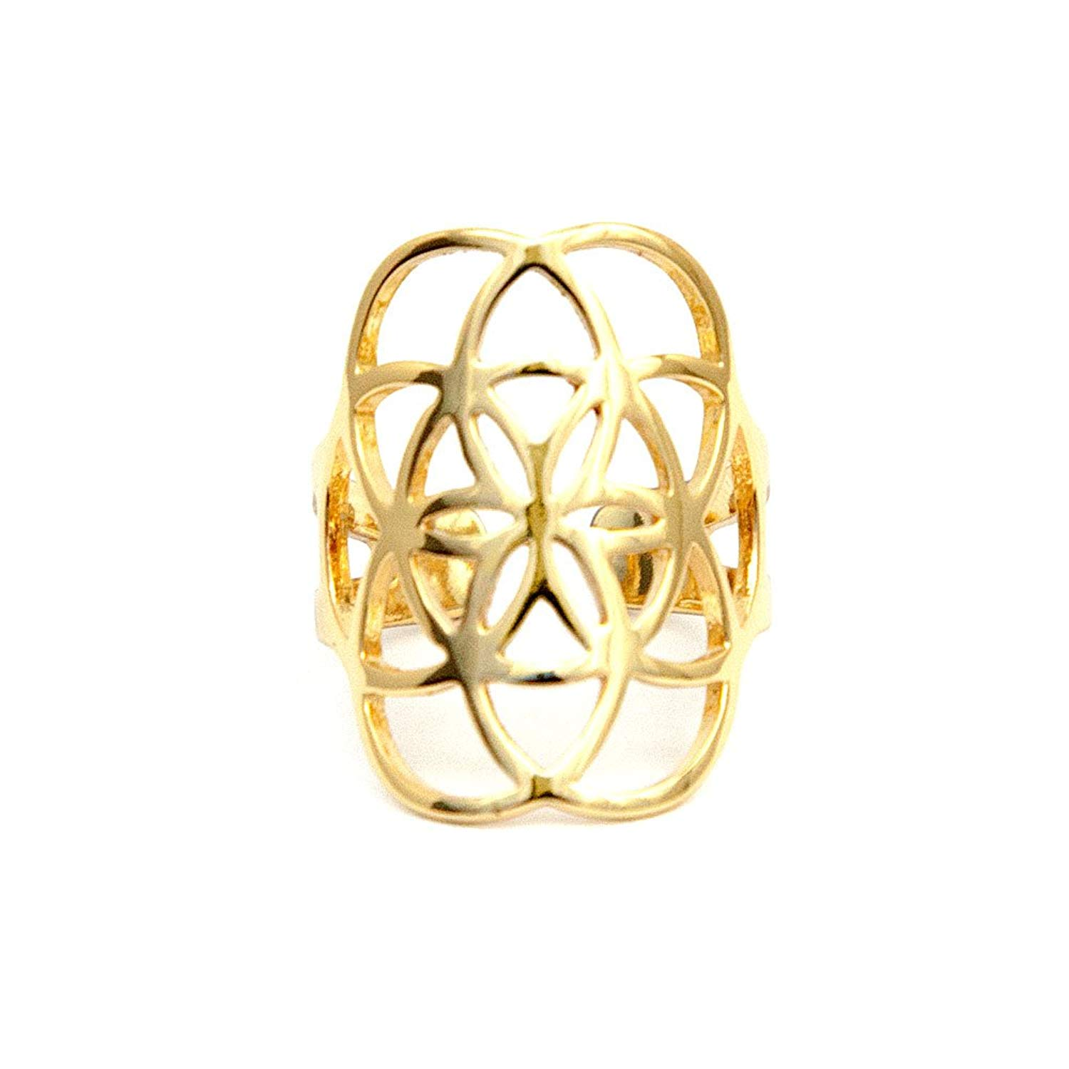 Tiny Devotions Seed of Life Sacred Geometry Ring for Women- Gold