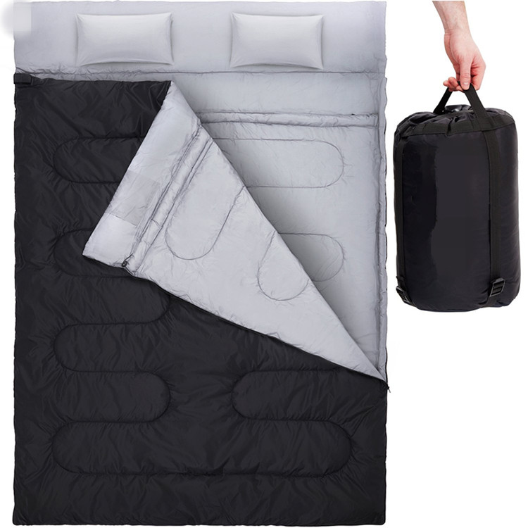 Cold Warm Weather Double Sleeping Bag For Backng Camping Or Hiking 2 Person Waterproof Lightweight Outdoor