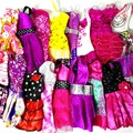 Randomly Pick 14 pcs lot Doll Clothing Sets Fashionable Clothes Casual Dress Suits For Barbie Doll