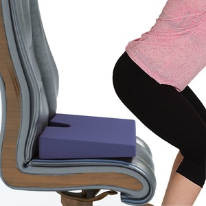 Coccyx Seat wedge Cushion with Non Slip Grip Bottom Reduces Pressure of Coccyx, Tailbone and Hip Bones While Driving and Sitting