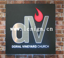 display led letter signboard stainless steel