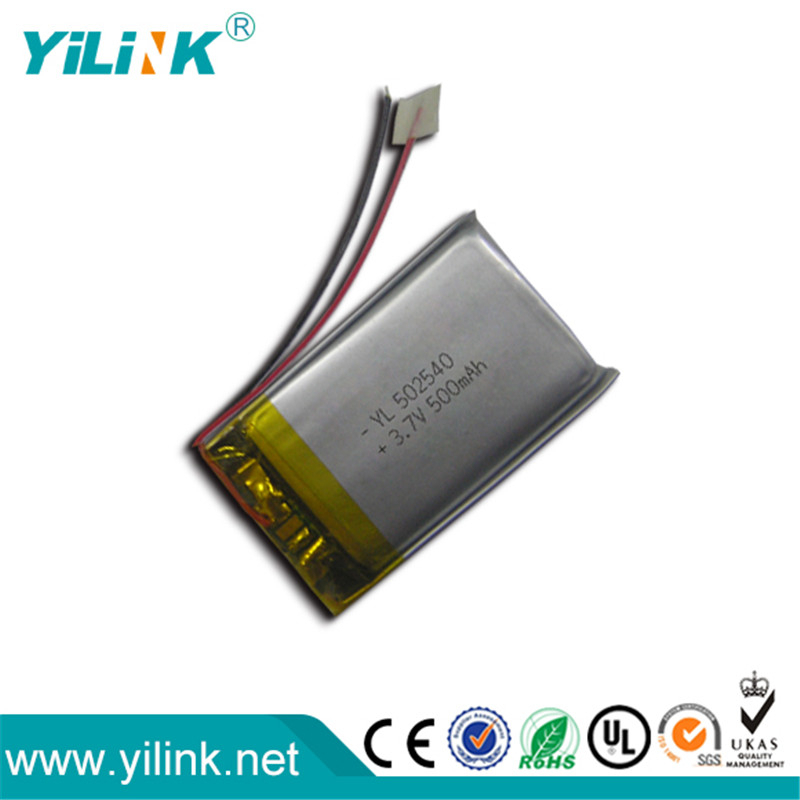 China fábrica OEM & ODM 3.7 V 500 mah bateria recarregável li ion battery packs