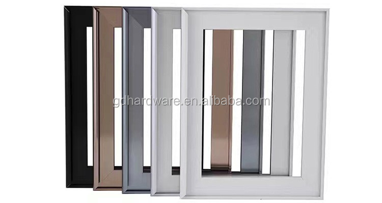 Kitchen Cabinet Aluminum Frame Glass Doorframeless Glass Cabinet