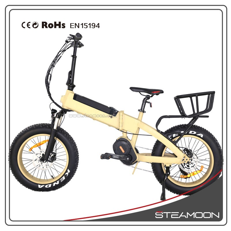 Steamoon F08 Mid motor G510 motor 1000W high power small folding electric bike