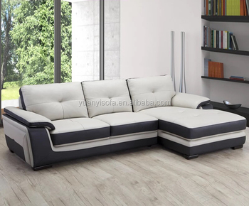 Black Leather Sectional Modern
