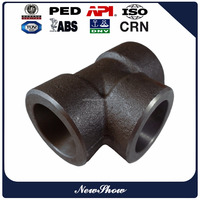 Forged Steel Fittings ASTM B16.11 A105 3000LB Sock welding TEE