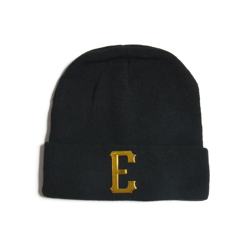 Metal Logo winter sport men's winter knit hat