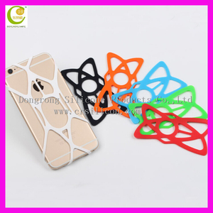 Strong Silicone Rubber Band Bike Phone holder for bike ,bike rotation holder with silicone band