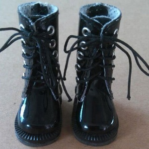 30cm SD doll wearing frye boot,made from Shinny PU.