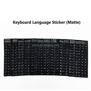 German French Japanese Korean Arabic English Thai Italian Russian Language sticker keyboard layout sticker keyboard sticker