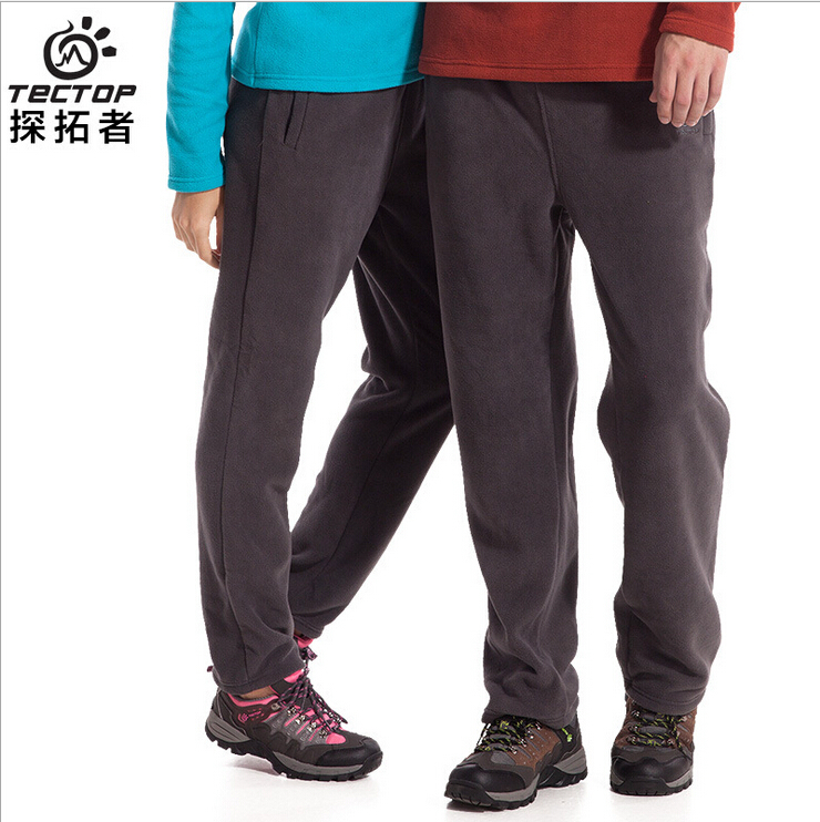 Brand New Outdoor Sport Running Polar Fleece Pants Women&Men Thermal Thick Pesca  Autumn Winter Casual Warm Hiking&Camping Cala