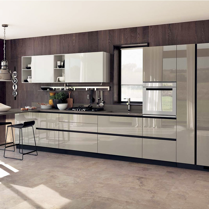 new model australia style custom white lacquer kitchen