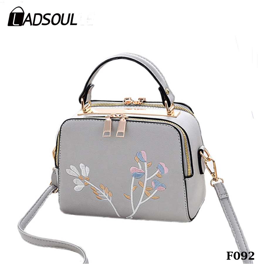 Girls Fashion Embroidery PU Handbag Small Summer Shoulder Bag
