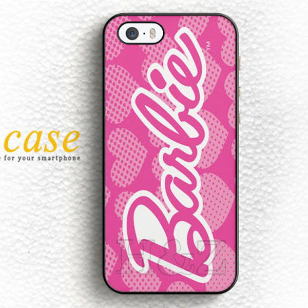 best website 78cee 72717 Hot For BARBIE PINK LOGO Hard Back Shell Mobile Phone Cases Accessories For  iPhone 6 6 plus 5c 5s 5 4 4s Case Cover Original