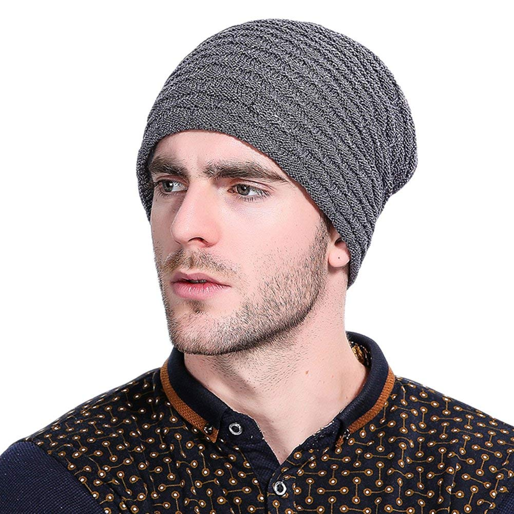 b7157a7d524 Get Quotations · GITVIENAR Winter Warm Hat Wool Knited Beanie Hat Skull Cap  Ears Covers for Women and Men