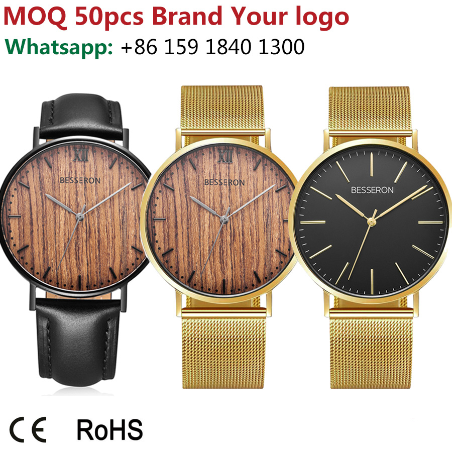 New year wholesale nice original watches custom quartz man gold time with japan movement watch