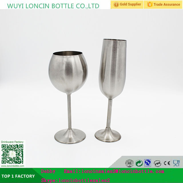 Outdoor Stainless Steel Goblets Unbreakable Metal Champagne Flutes View Wine Loncin Product Details From Wuyi Bottle Co