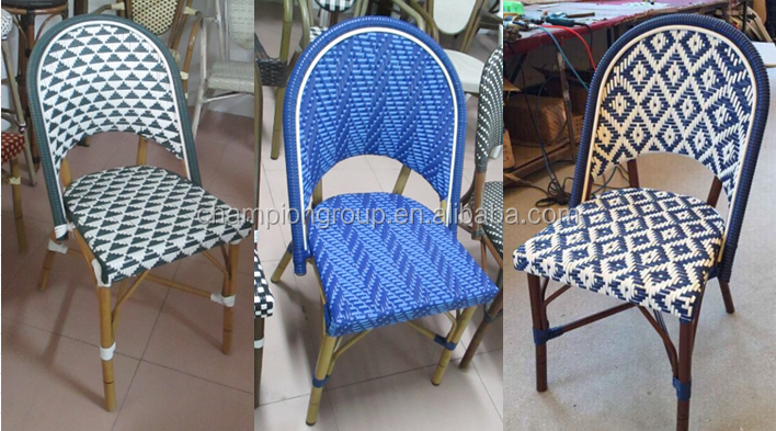 Awe Inspiring Great Blue And White Woven French Bamboo Bistro Cafe Chair Buy French Bistro Rattan Chairs Industrial Cafe Chairs White Plastic Bistro Chair Product Alphanode Cool Chair Designs And Ideas Alphanodeonline