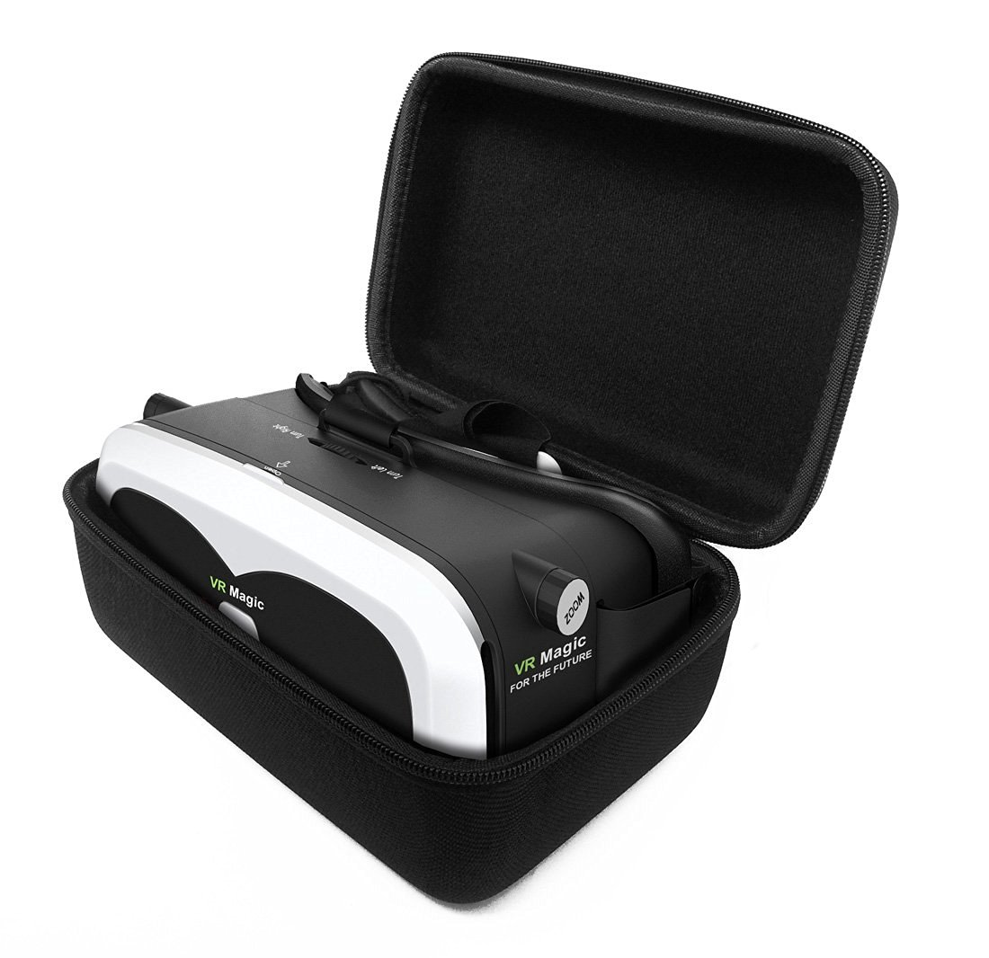 FitSand (TM) Travel Portable Protective Zipper Carrying Hard Case Cover Bag for Tamo Gear VR Glasses Virtual Reality 3D Headsets VR Box