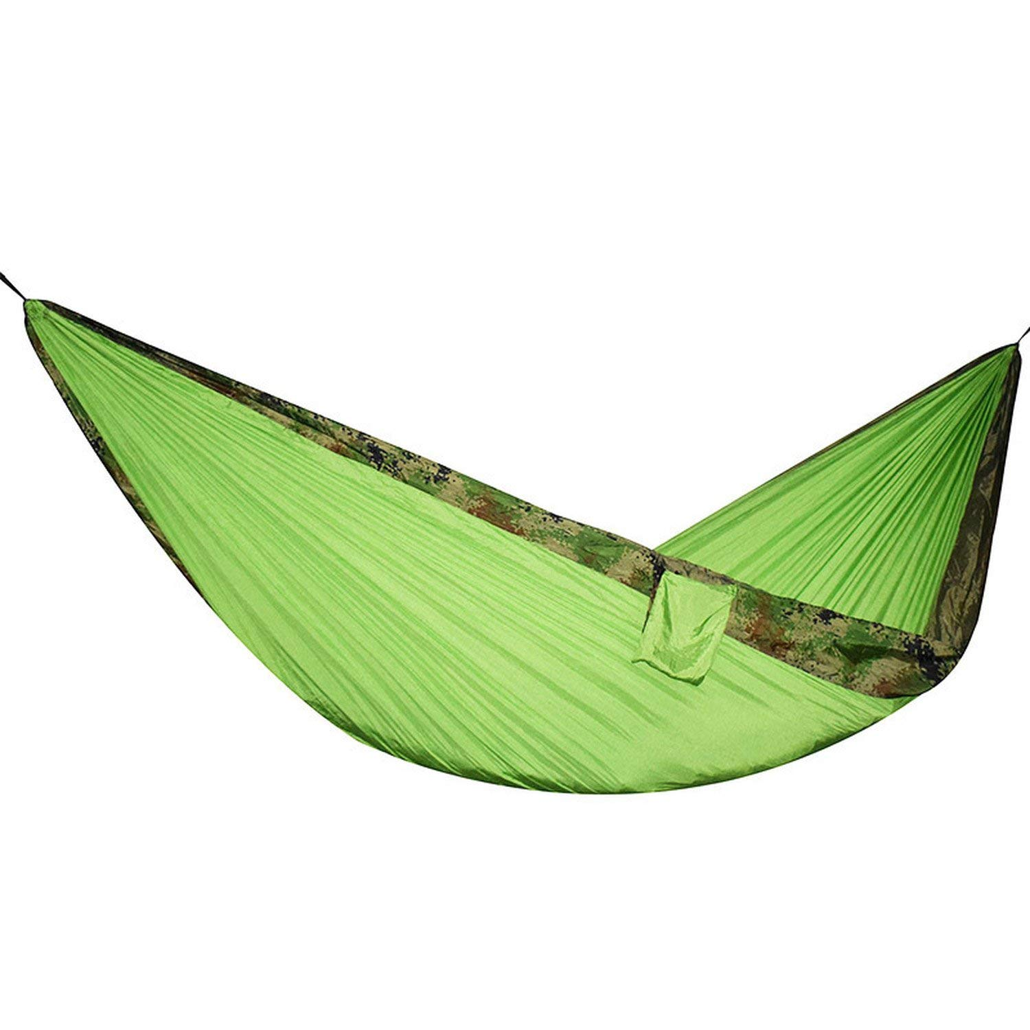 Mandaartins 24 Color 2 People Portable Parachute Hammock Camping Survival Garden Flyknit Hunting Leisure Hamac Travel Double Person Hamak,camouflage edge