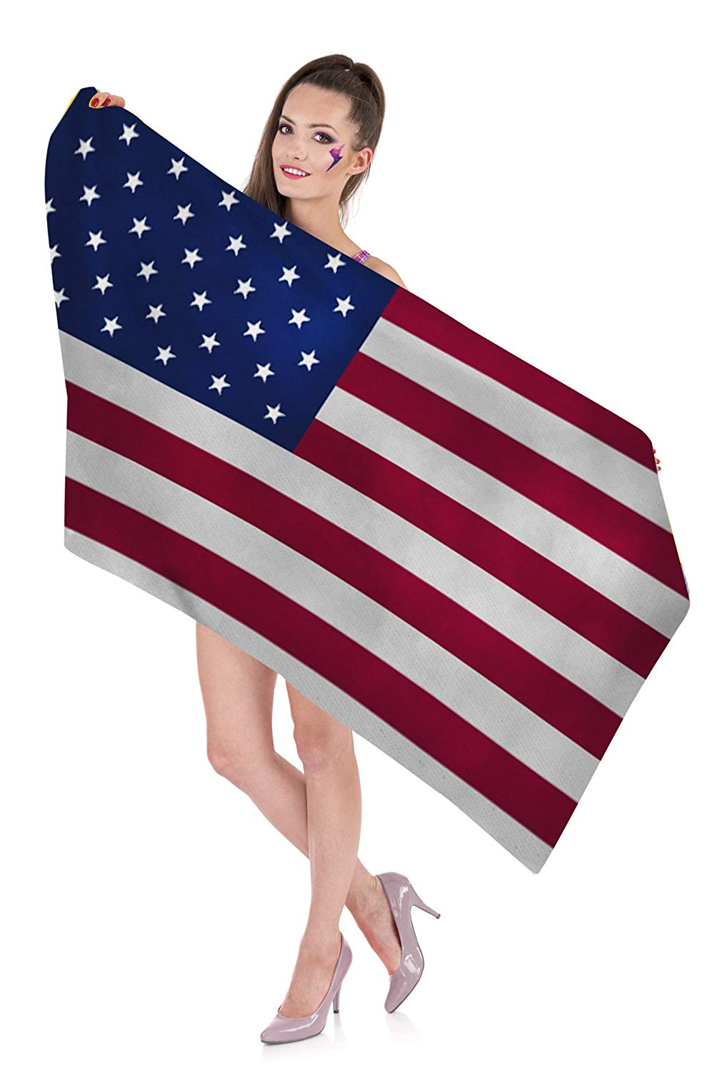Zohra American Flag Beach Towels for Girls, Cheap Beach Towels Oversized Clearance Prime