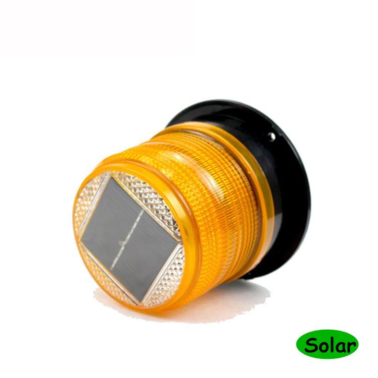 Solar LED luz estroboscópica baliza de Flash de Coche Lámpara de Advertencia de tráfico de emergencia e #