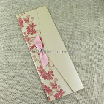 Pink Color Pocket Design Romantic Thanksgiving Handicraft Greeting