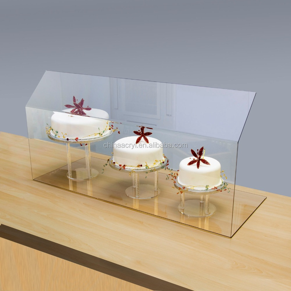 Clear Acrylic Food Display Protector Screen & Sneeze Guard - Various Sizes