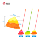 plastic soft angle broom with flexible bristle