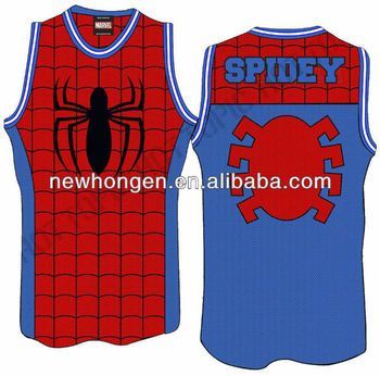 07b10d8deca0 2015 Custom Pro Sublimation Spider-man Basketball Jerseys