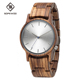2018 Hot Sale Natural Zebra Wood Watch Quartz Vintage Wooden Wrist Watch