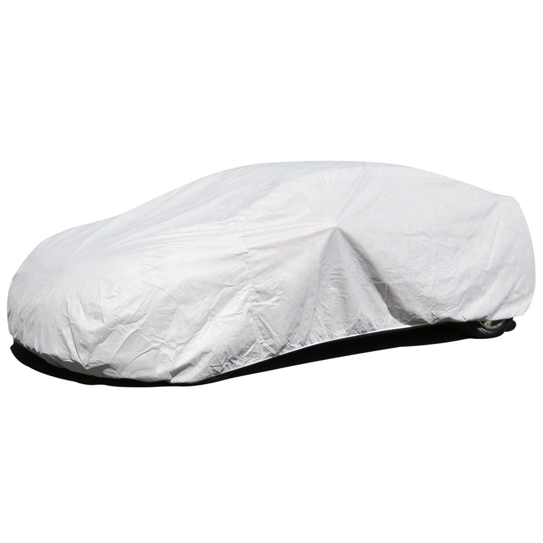 Budge Premier Tyvek Car Cover Fits Sedans up to 228 inches, K-4 - (Tyvek, White)