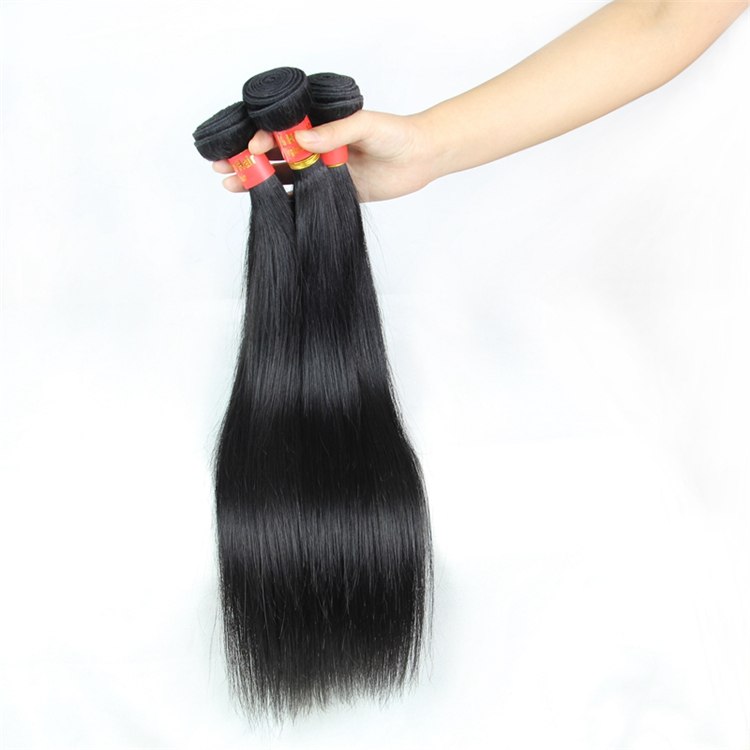 Factory Wholesale Cuticle Aligned Cheap Brazilian Hair Vendor 100% Natural Virgin Remy Human Hair Extension Weave Bundles, 1b natural black