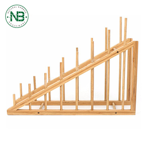 New design organically bamboo wooden dish rack imported from China