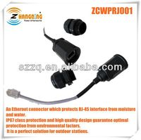 outdoor RJ45 ethernet connector Field replaceable waterproof connector system for RJ45 shielded or unshielded connectors