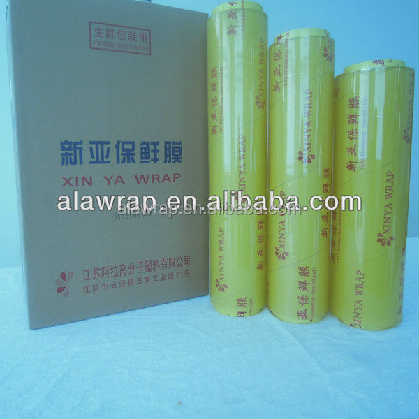 water resistant stretch film/plastic wrap/cling film with metal blade