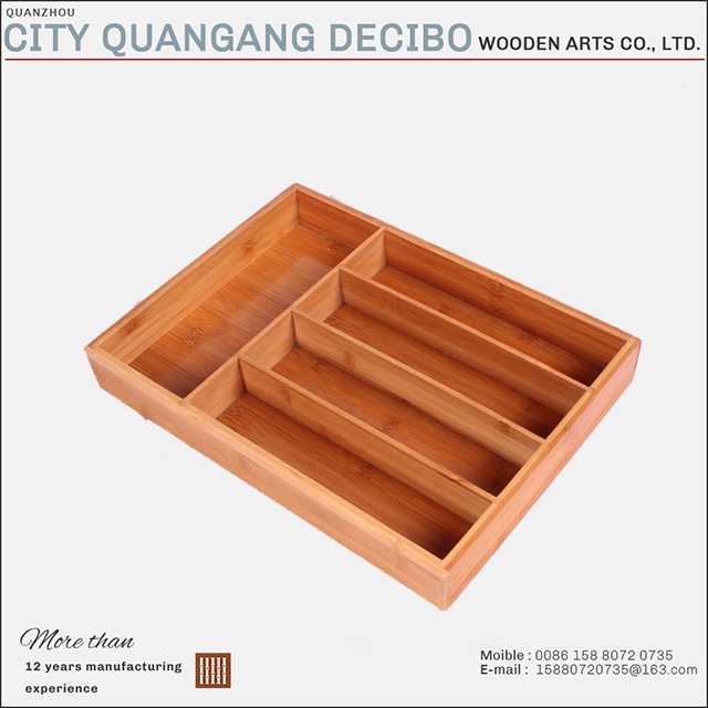 hot sale eco-friendly bamboo kitchen drawer storage organizer box/case