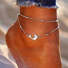 Женский многослойный браслет IF YOU Bohemia, многослойный браслет на щиколотке с изображением морской звезды для ног, 2019(Китай)