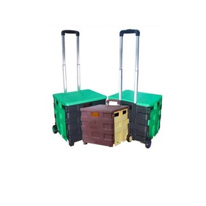 Hand PP Plastic Material Pack and Roll Folding Trolley Cart