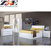 Modern china foshan bed room furniture bedroom set , modern new high gloss painting MDF home furniture bedroom set