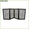 Dark Espresso Wooden 4 Panels Folding Dog Pet Gate/Homex_BSCI