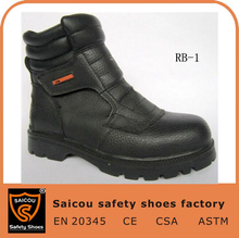 2016 hot selling safety shoes and manufacturer wholesale working shoes and no lace safety boots RB-1