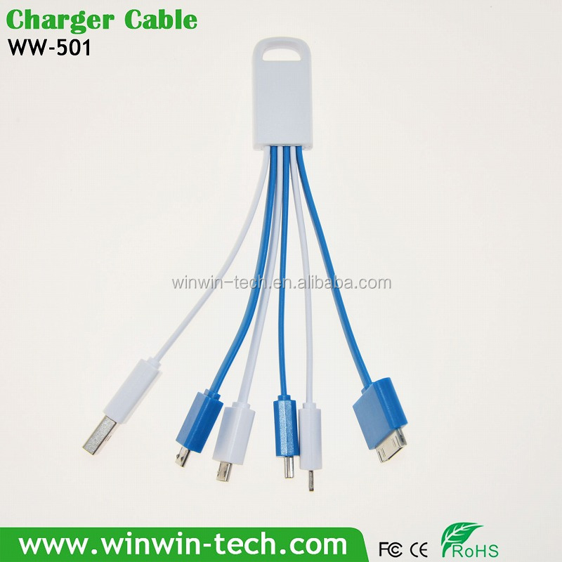 Promotional micro 4 in 1 usb charger multi function data transfer cable