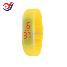 silicon digital led smart watch