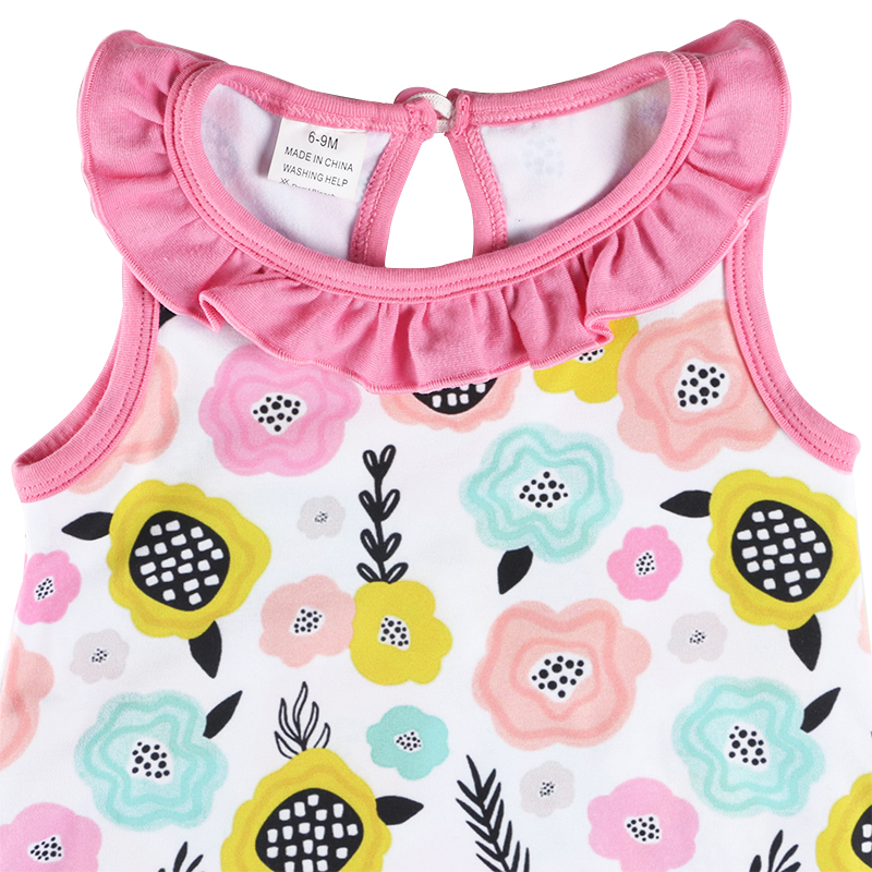 Fall pink milksilk fabric no sleeves baby girls clothes baby romper