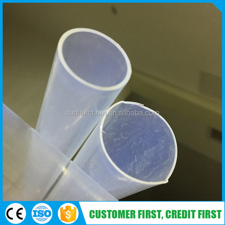 Fluorine durable stylish clear transparent acrylic plastic pipe