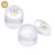 Round Empty Clear Loose Powder Container Packaging Cosmetic Powder Sifter Jar with Sifter